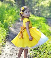 Нарядное детское платье - Хлопок + Фатин, фото 4