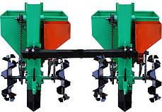 Картофелесажалка двухрядная для мототрактора(1 точка) 90 л с бункером  NEW (новые грунтозацепы) , фото 3