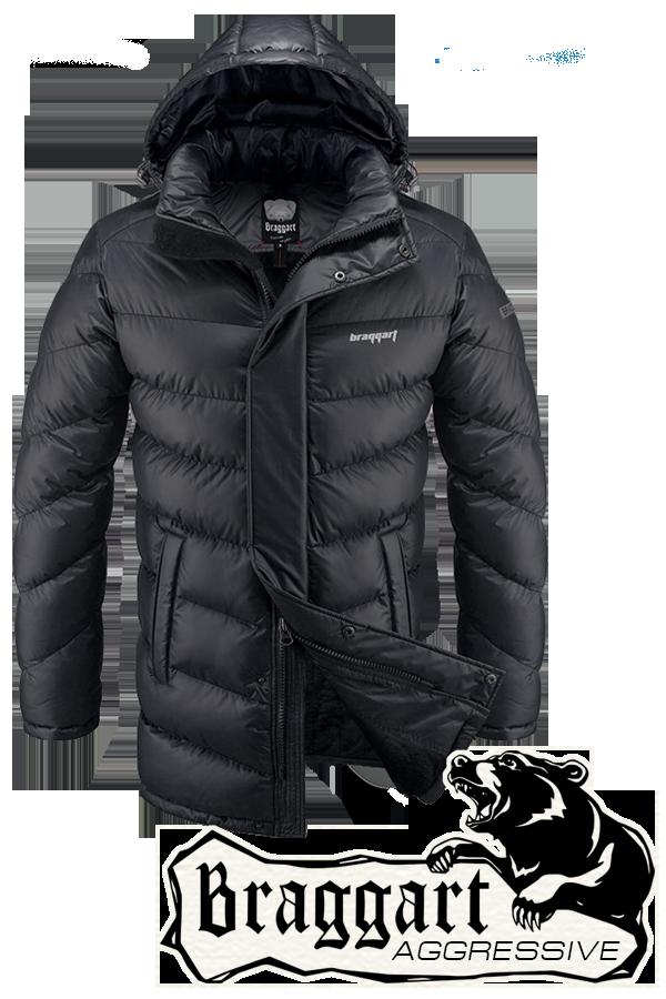 Мужская удлиненная зимняя куртка Braggart Aggressive арт. 1377