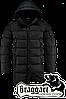 Мужская черная удлиненная зимняя куртка Braggart арт. 2762