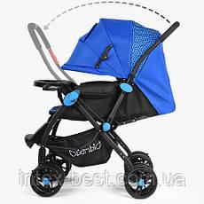 Детская прогулочная коляска Bambi Синяя (M 3655-4), фото 3