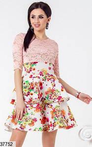 Женское гипюровое платье37752 КТ-2242