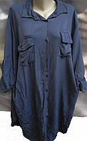 Рубашка из штапеля женская батальная , фото 1