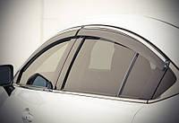 Дефлекторы окон (ветровики) Mazda 6 2013- С Хром Молдингом, фото 1