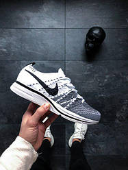 Кроссовки Nike Flyknit Trainer (White / Black — White) топ реплика
