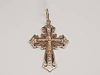 Золотой крестик Распятие Христа с эмалью. Артикул 11376-МЭ, фото 1