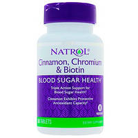 Natrol, Cinnamon, Chromium & Biotin, 60 Tablets