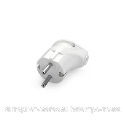 Вилка электрическая угловая с заземлением VI-KO
