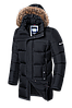 Мужская удлиненная черная зимняя куртка Braggart (р. 46-56) арт. 3226