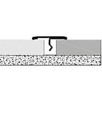 Порожек декоративный для перехода напольного покрытия из паркета, плитки, мрамора нерж браш с защитой.