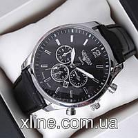 Мужские наручные часы Longines B303 на кожаном ремешке