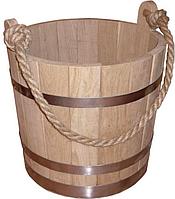 Ведро 15л деревянное для бани, дуб