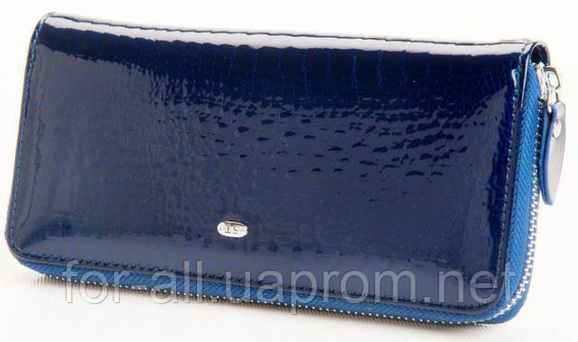 d3b14297b3c3 Фото еленый кошелек лаковый из кожи SТ AE38 Blue в интернет-магазине Модная  покупка