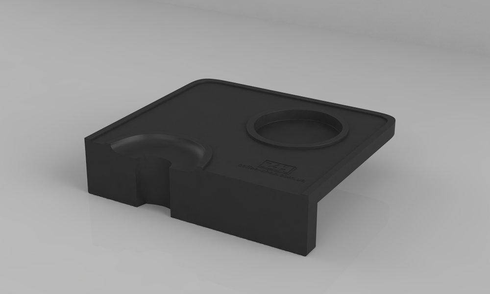 Угловой резиновый коврик-мат ZH для темпера, черный