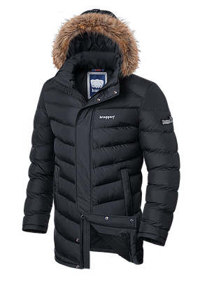Мужская удлиненная зимняя куртка Braggart (р. 46-56) арт. 33877 графит, фото 2