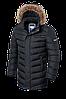 Мужская черная удлиненная зимняя куртка Braggart (р. 46-56) арт. 3155