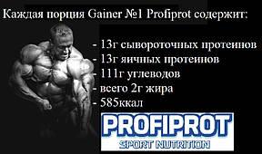 """Гейнер  шоко """"GAINER №1"""" PROFIPROT, фото 3"""