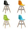 Стул визажиста на деревянных ножках, барный стул, стул для администратора (Тауэр Вуд голубой), фото 2