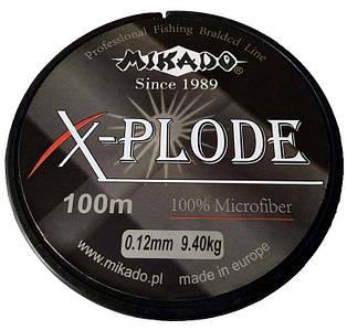 Шнур рыболовный Mikado X-plode 100 м (0.12-0.50 мм)