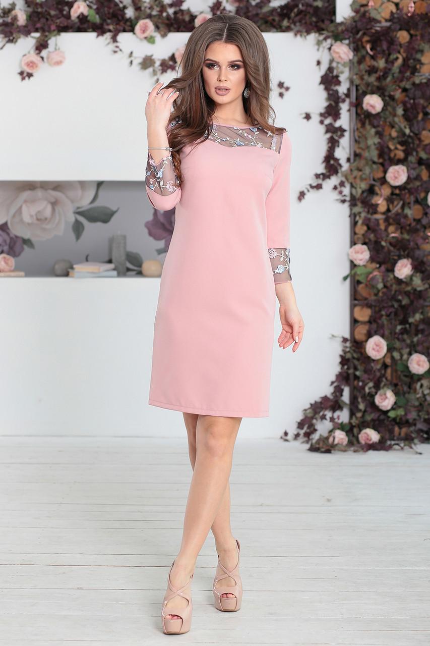 65ee8c6ea66 Платье повседневное Камилла в цвете пудра - LILIT ODESSA оптово-розничный  магазин женской одежды в
