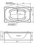 Акриловая ванна Triton Атлант, 2050х1200х710 мм, фото 2