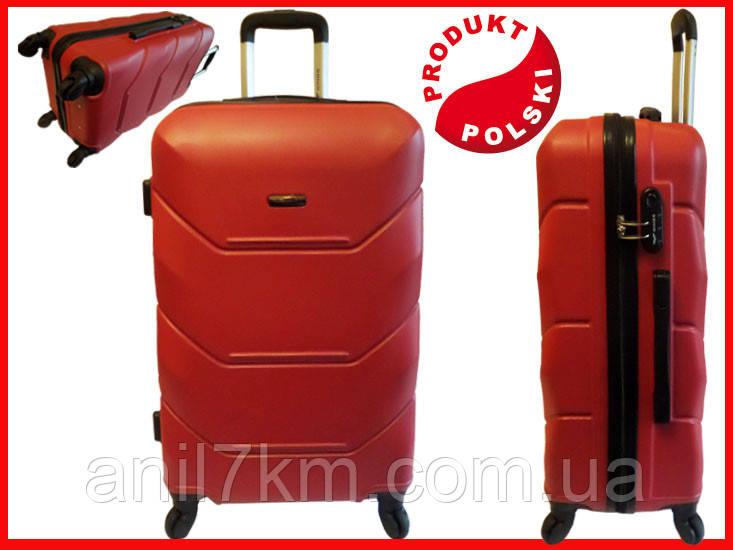 Большой  ударопрочный чемодан  на четырёх колёсах