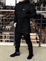 Весенняя мужская черная парка (куртка) Nike CUPE, есть опт