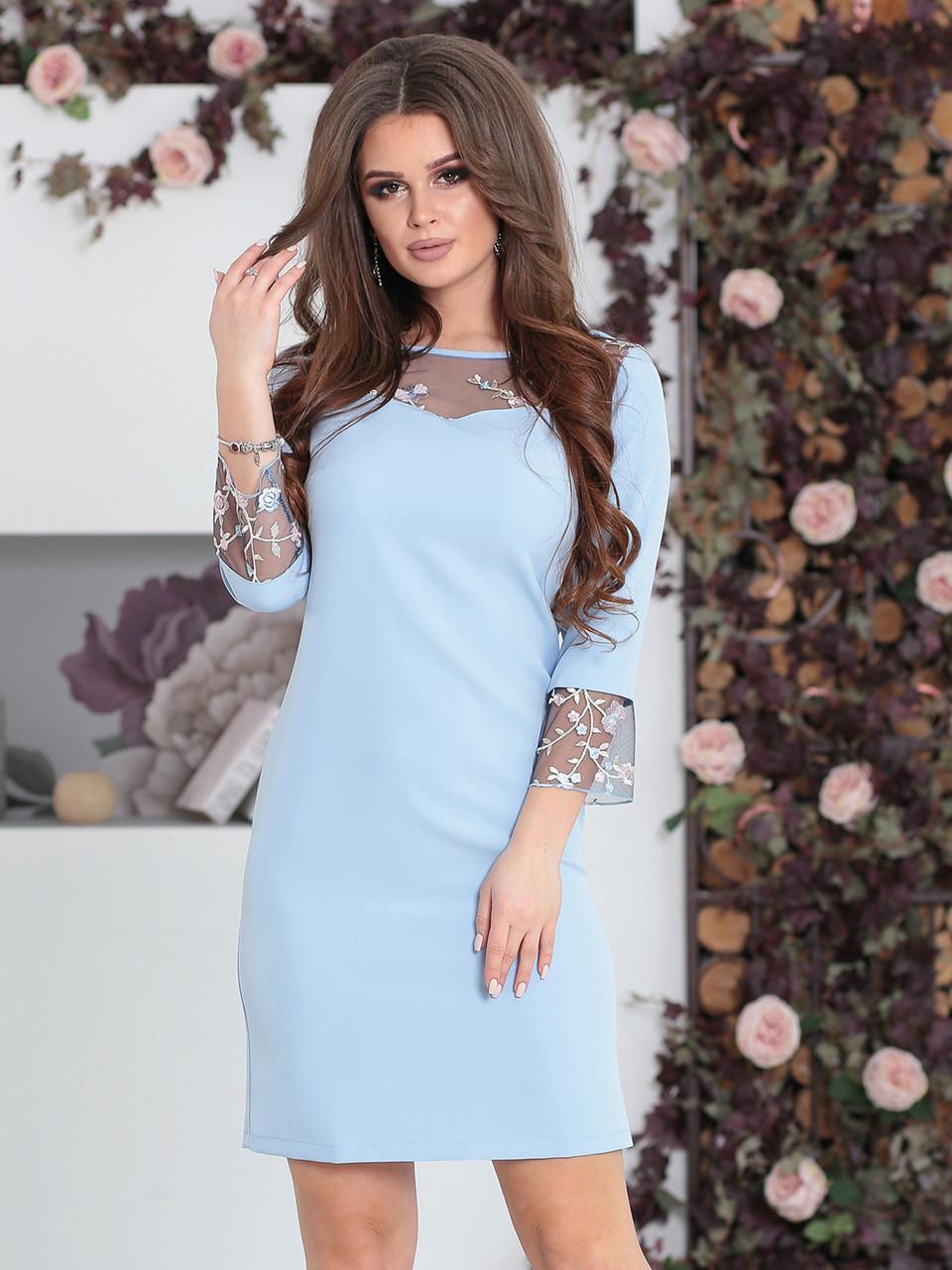 Платье Камилла голубое