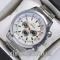 Мужские наручные часы Omega M77 на металлическом браслете