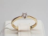 Золотое кольцо с фианитом. Артикул 700030-ЕВРО