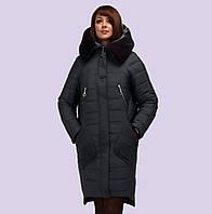 Зимний женский пуховик-парка модель 150. Размеры 50-60