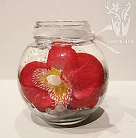 Свеча бочонок цветы