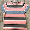 Футболка детская розовая Полоска Р-01