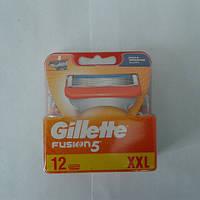 Кассеты для бритья мужские Gillette Fusion 5 12 шт. ( Жиллетт Фюжин 5 Кассета павер!! оригинал Германия) , фото 1