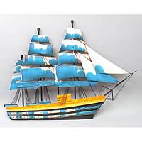 "Декор для дома настенный ""Корабль"" HX7003, металл, 65х50 см, статуэтка для декора, декорирование дома, фигурка, сувенир"