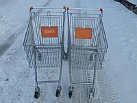 Тележки на 50 л. бу. Тележки для супермаркета б у., фото 1