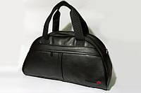Спортивная сумка Reebok с плечевым ремнём и вышитым лого рибок, эко-кожа!