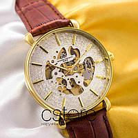 Мужские наручные механические часы Vacheron Constantin geneve gold white (05004)