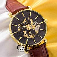 Мужские наручные механические часы Vacheron Constantin geneve gold black (05006), фото 1