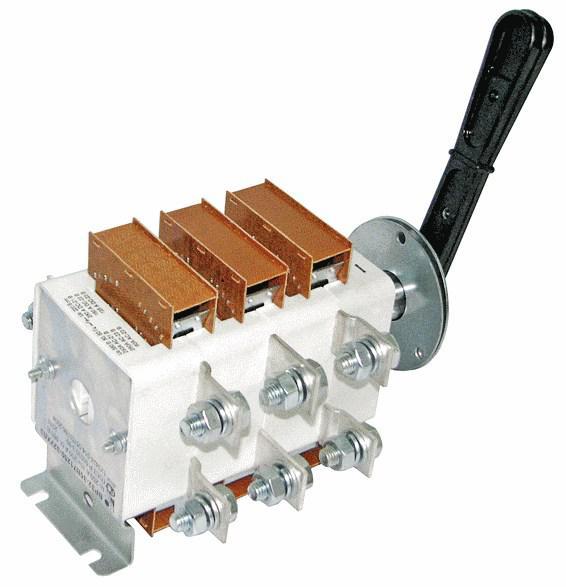 Перекидной рубильник ВР32-400 400А c дугогасительными камерами