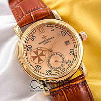 Мужские наручные механические часы Vacheron Constantin patrimony gold gold (05012)