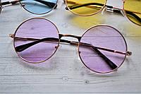 Солнцезащитные очки тишейды с цветной линзой Сиреневый
