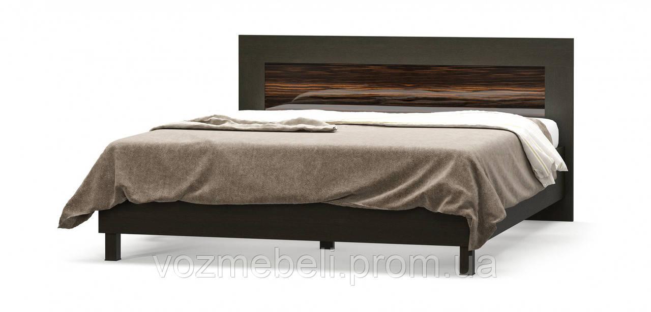 Кровать Ева макасар 1,6 + ламель (МС)