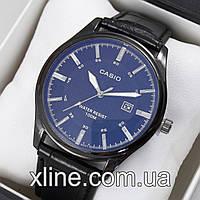Мужские наручные часы Casio T20 на кожаном ремешке