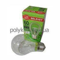 Лампа накаливания BELSVET Б 60W Е27 індівід.упаковка
