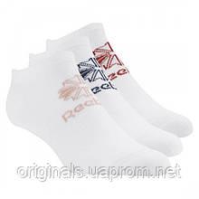 Белые носки три пары в упаковке Reebok Classics Foundation Unisex No Show CV8659 - 2018