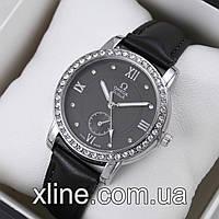 Женские наручные часы Omega M88 на кожаном ремешке