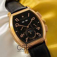 Мужские наручные механические часы Vacheron Constantin geneve gold black (05025)