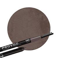 Полуперманентный гелевый карандаш для бровей №102 (коричневый) PROVOC Eye Brow Liner Seductive