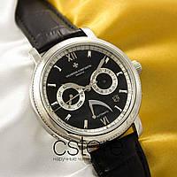 Мужские наручные механические часы Vacheron Constantin automatic silver black (05028)